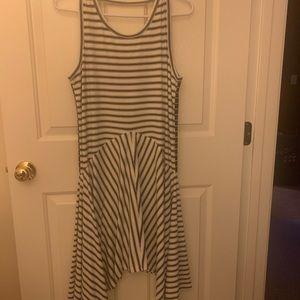 Draped side dress NEW WITH TAG